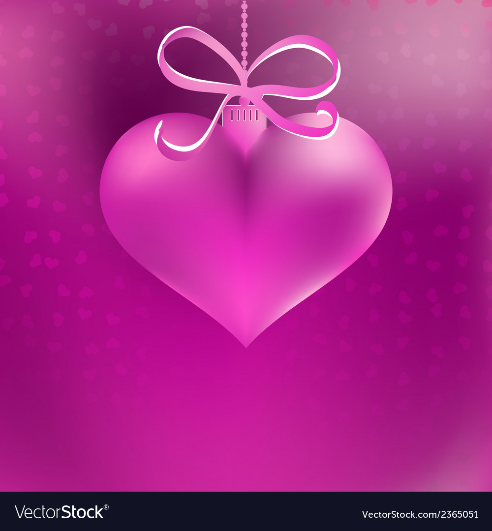 Christmas heart shaped pink bauble  eps8 vector | Price: 1 Credit (USD $1)