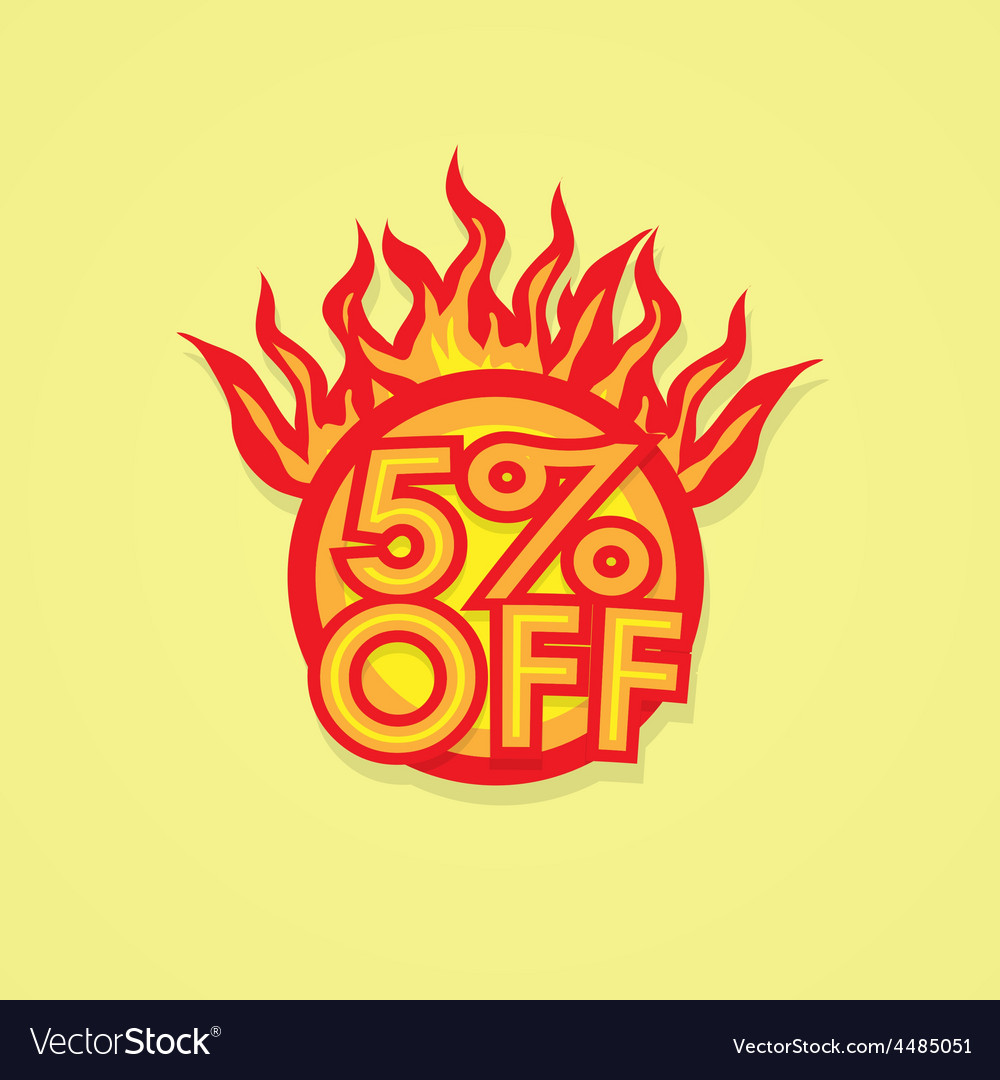 Fiery discount vector | Price: 1 Credit (USD $1)