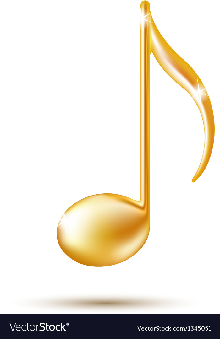 Golden music note sign vector | Price: 1 Credit (USD $1)
