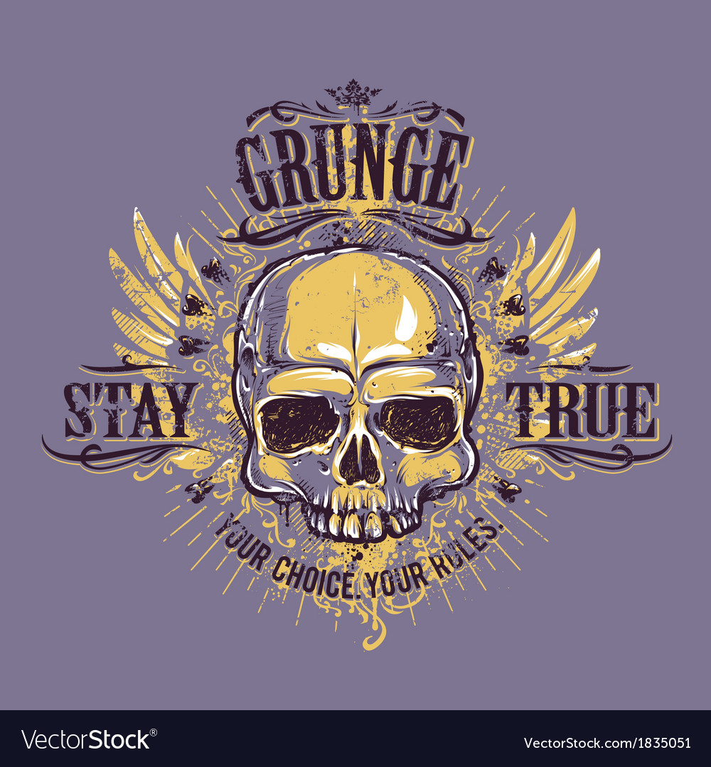 Grunge skull print 4 vector | Price: 1 Credit (USD $1)