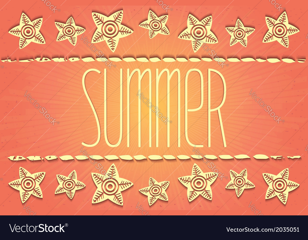 Hawaiian-style summer card vector | Price: 1 Credit (USD $1)