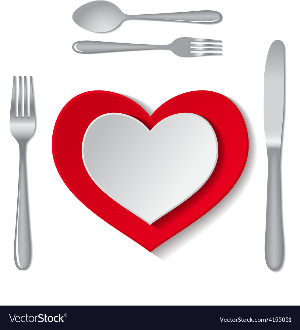 Heart plate vector | Price: 1 Credit (USD $1)