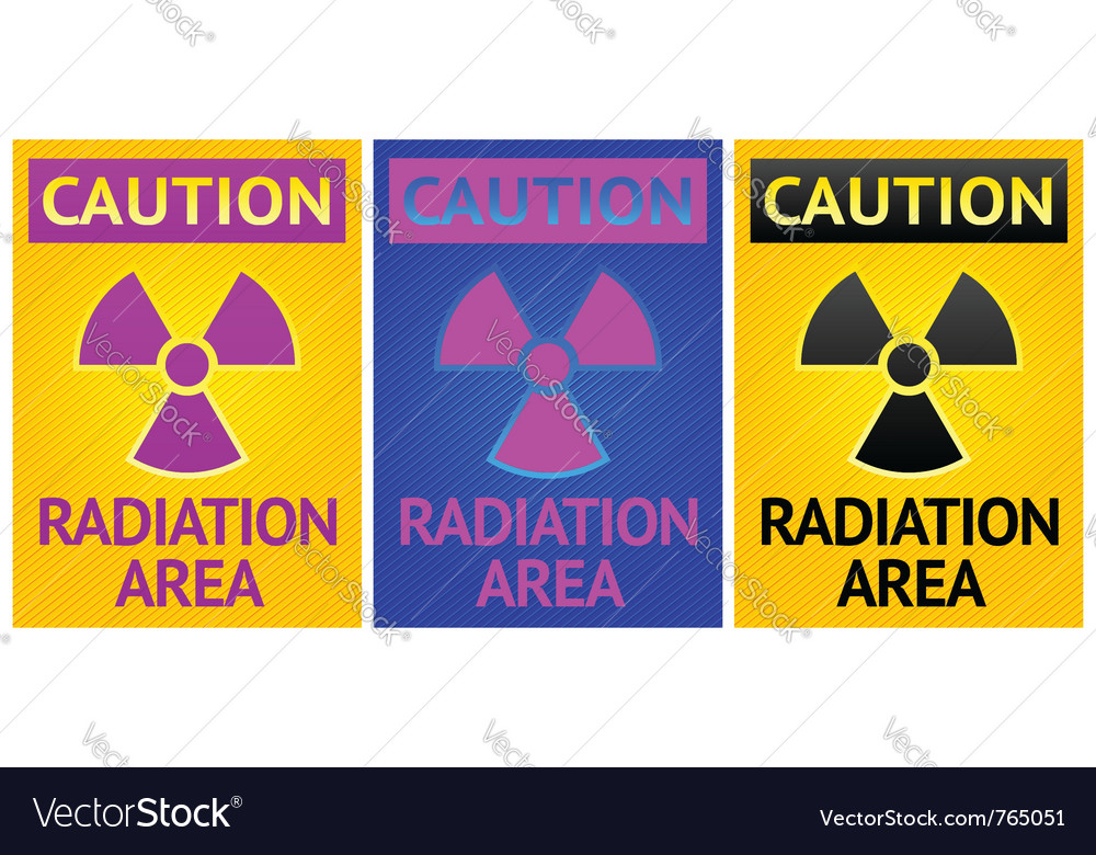 Radiation hazard sign vector | Price: 1 Credit (USD $1)