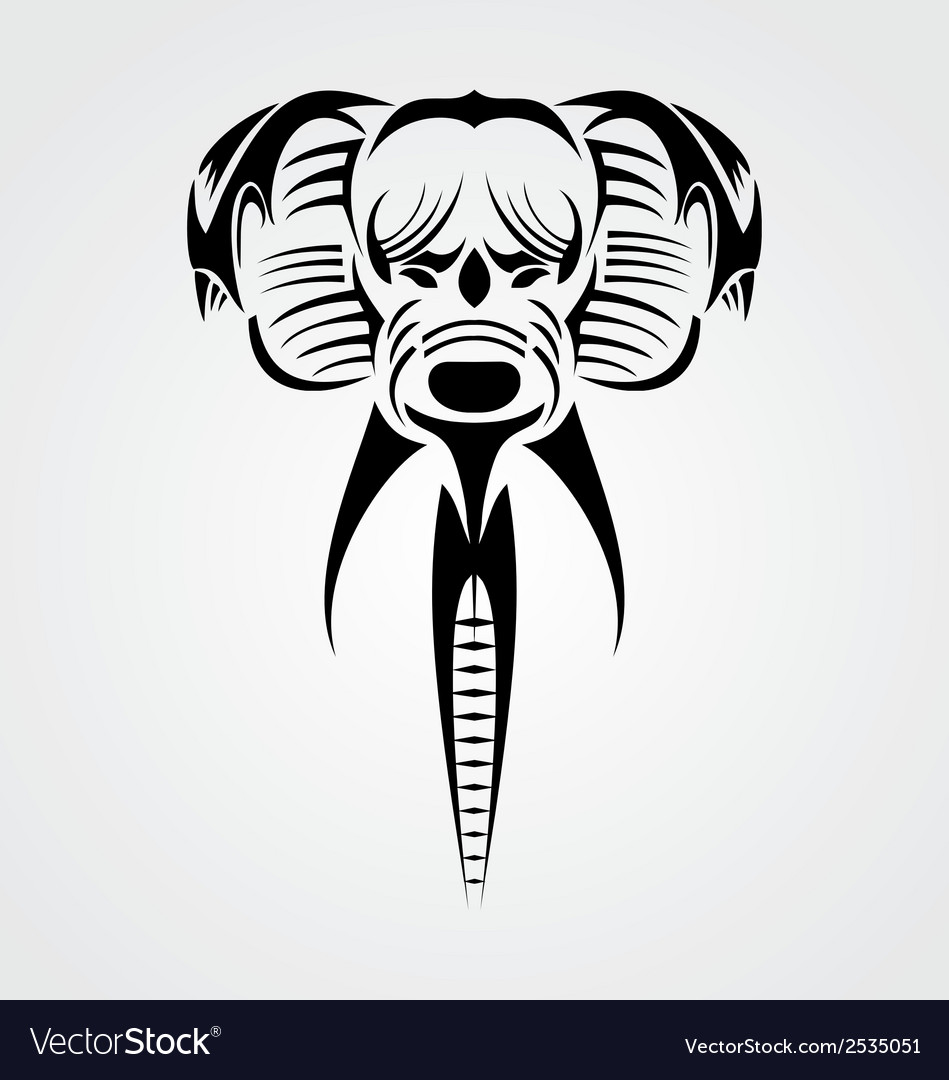 Tribal elephant vector | Price: 1 Credit (USD $1)