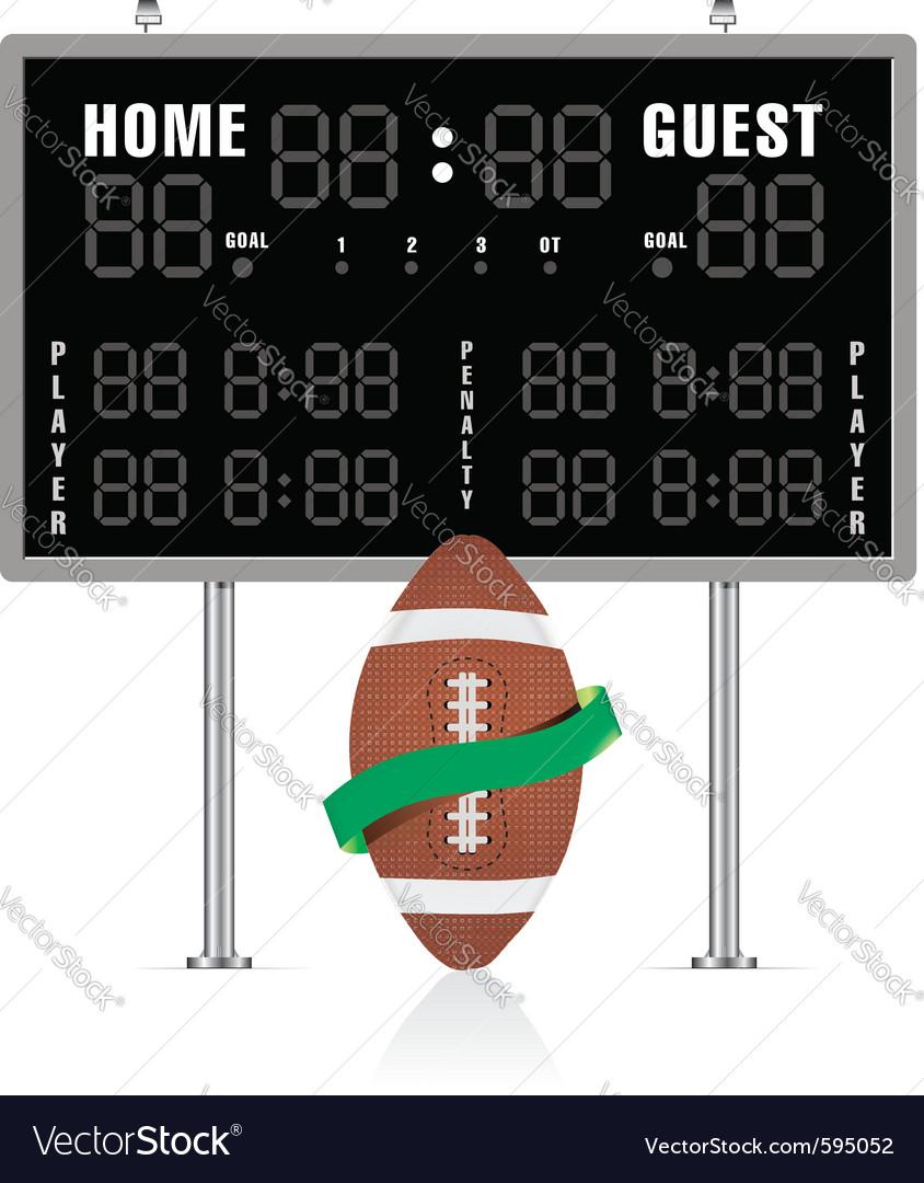 American gridiron scoreboard vector | Price: 1 Credit (USD $1)