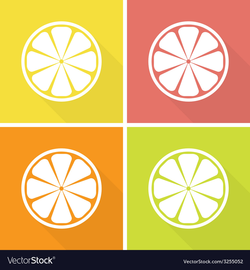 Citrus fruits icons vector | Price: 1 Credit (USD $1)