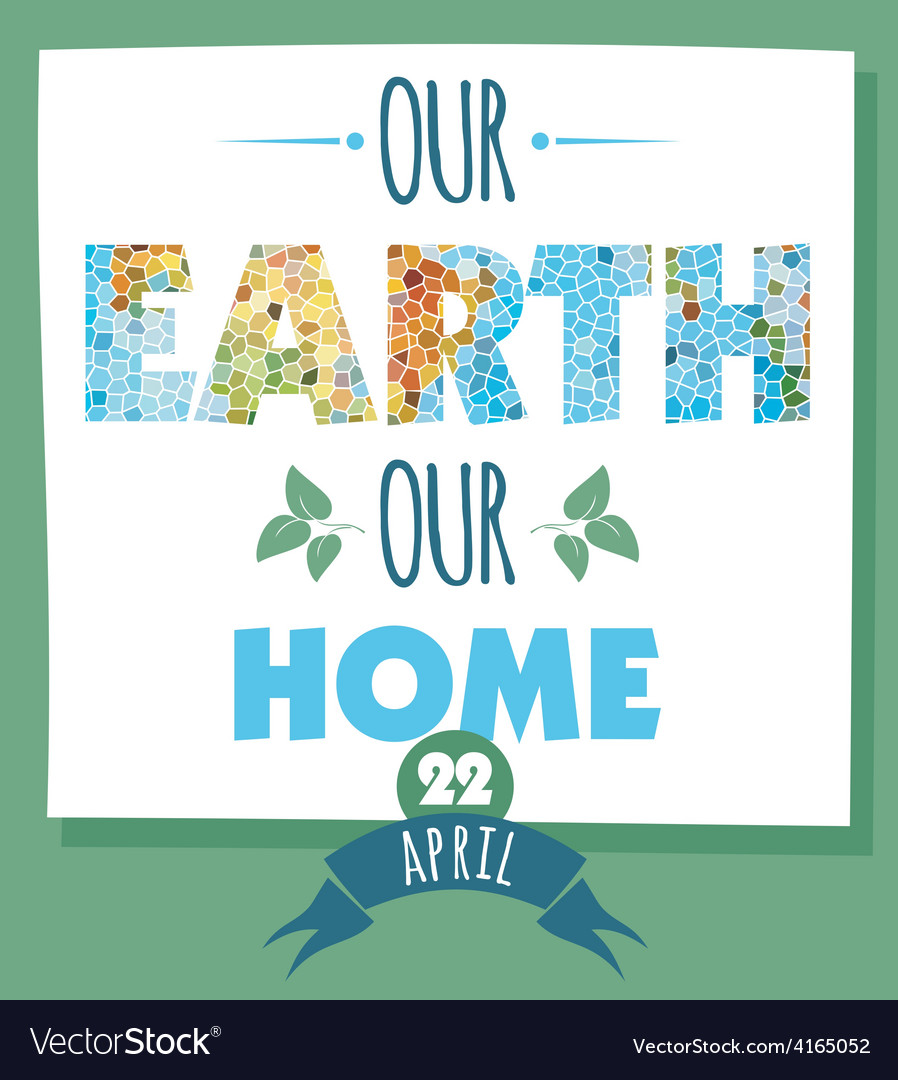 Earth day vector | Price: 1 Credit (USD $1)