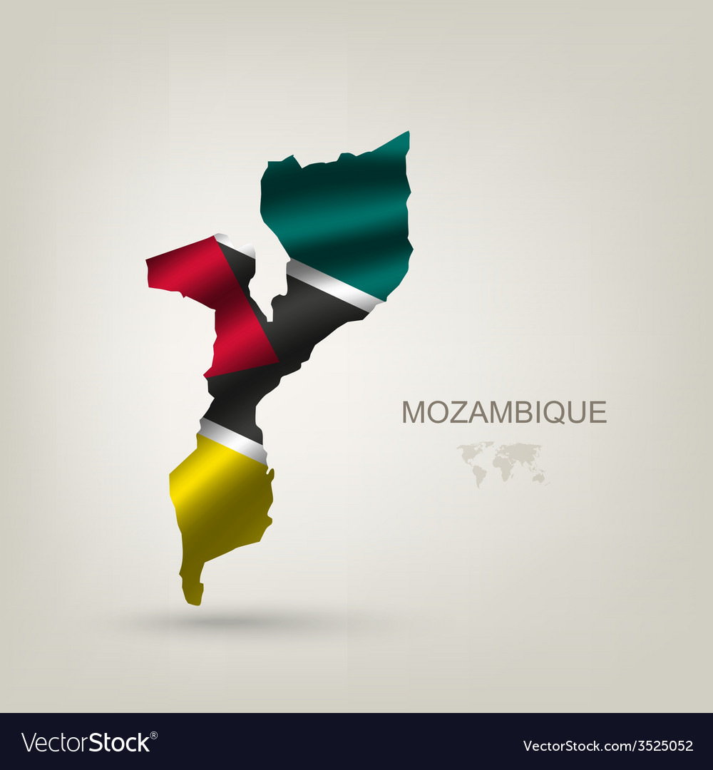 Flag of mozambique as a country vector | Price: 1 Credit (USD $1)