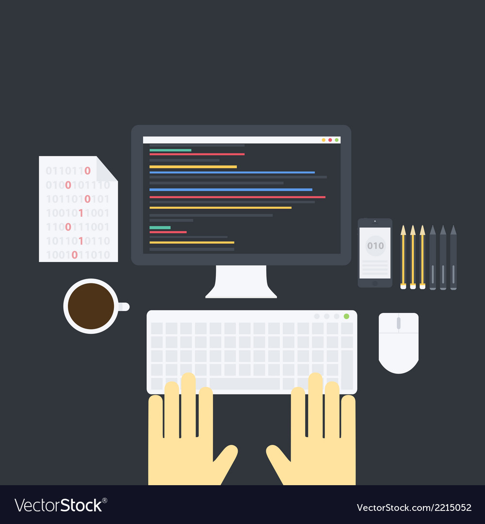 Flat programming pack vector | Price: 1 Credit (USD $1)