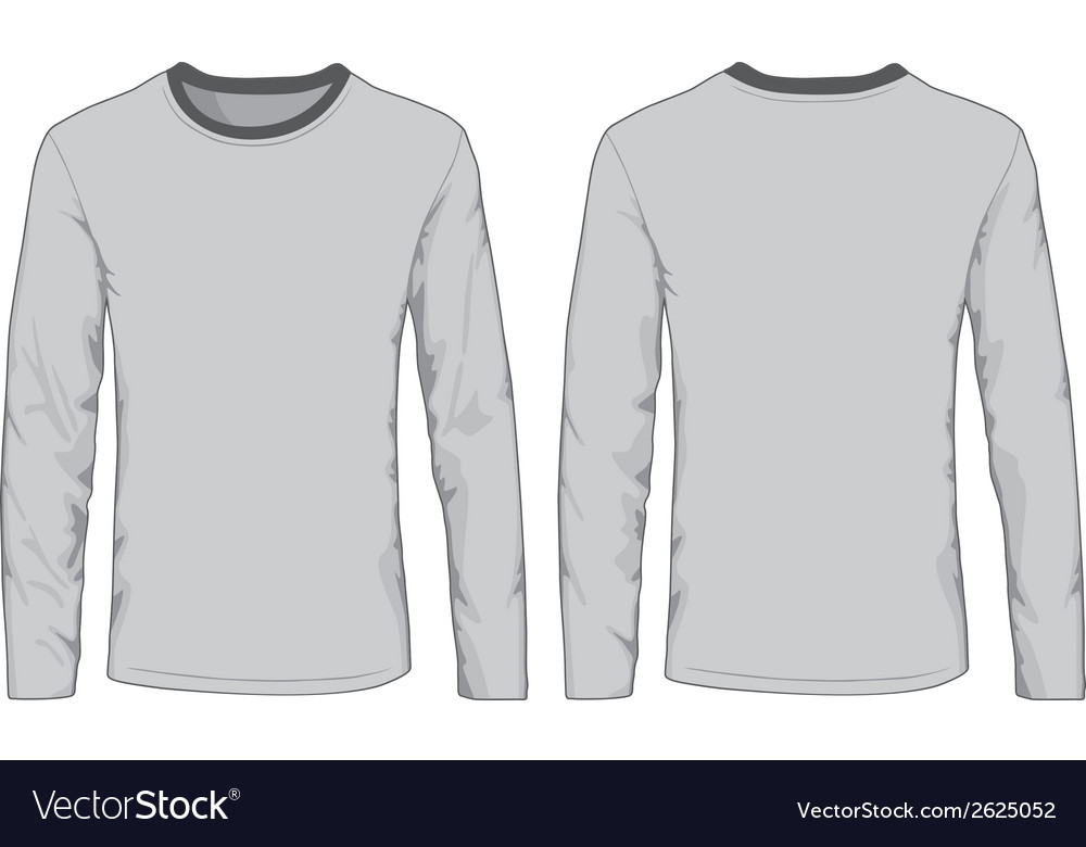Mens shirts template front and back views vector | Price: 1 Credit (USD $1)