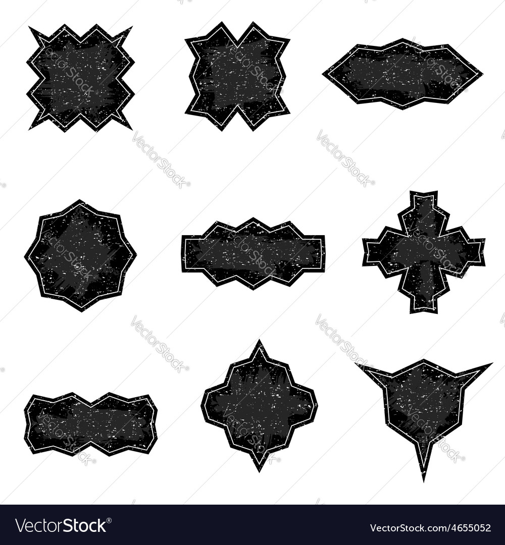Set of worn banners in grunge style templates vector | Price: 1 Credit (USD $1)