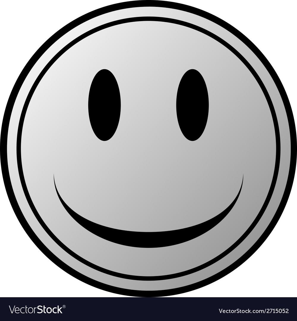 Smile face circle button vector | Price: 1 Credit (USD $1)