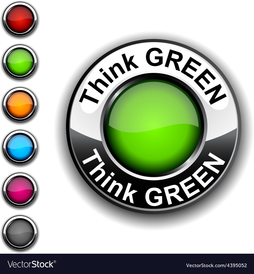 Think green button vector | Price: 1 Credit (USD $1)
