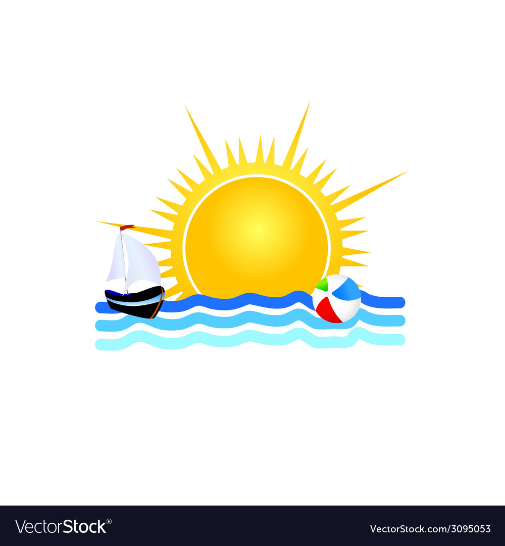 Boat on the sea icon vector | Price: 1 Credit (USD $1)