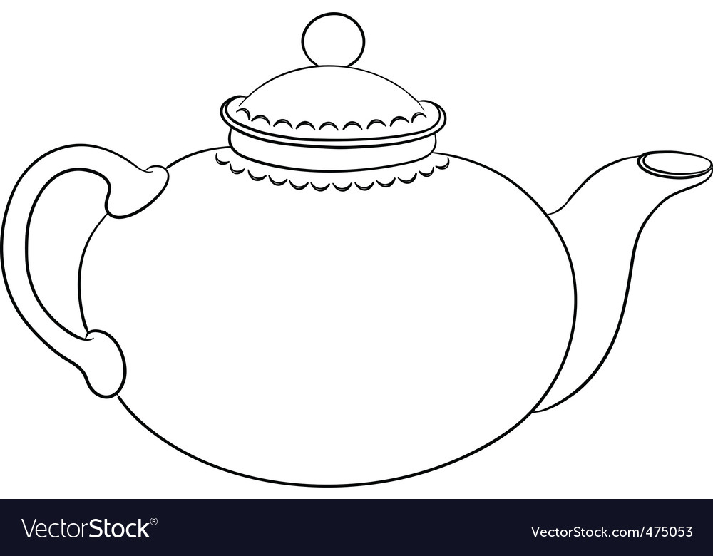China teapot contour vector | Price: 1 Credit (USD $1)