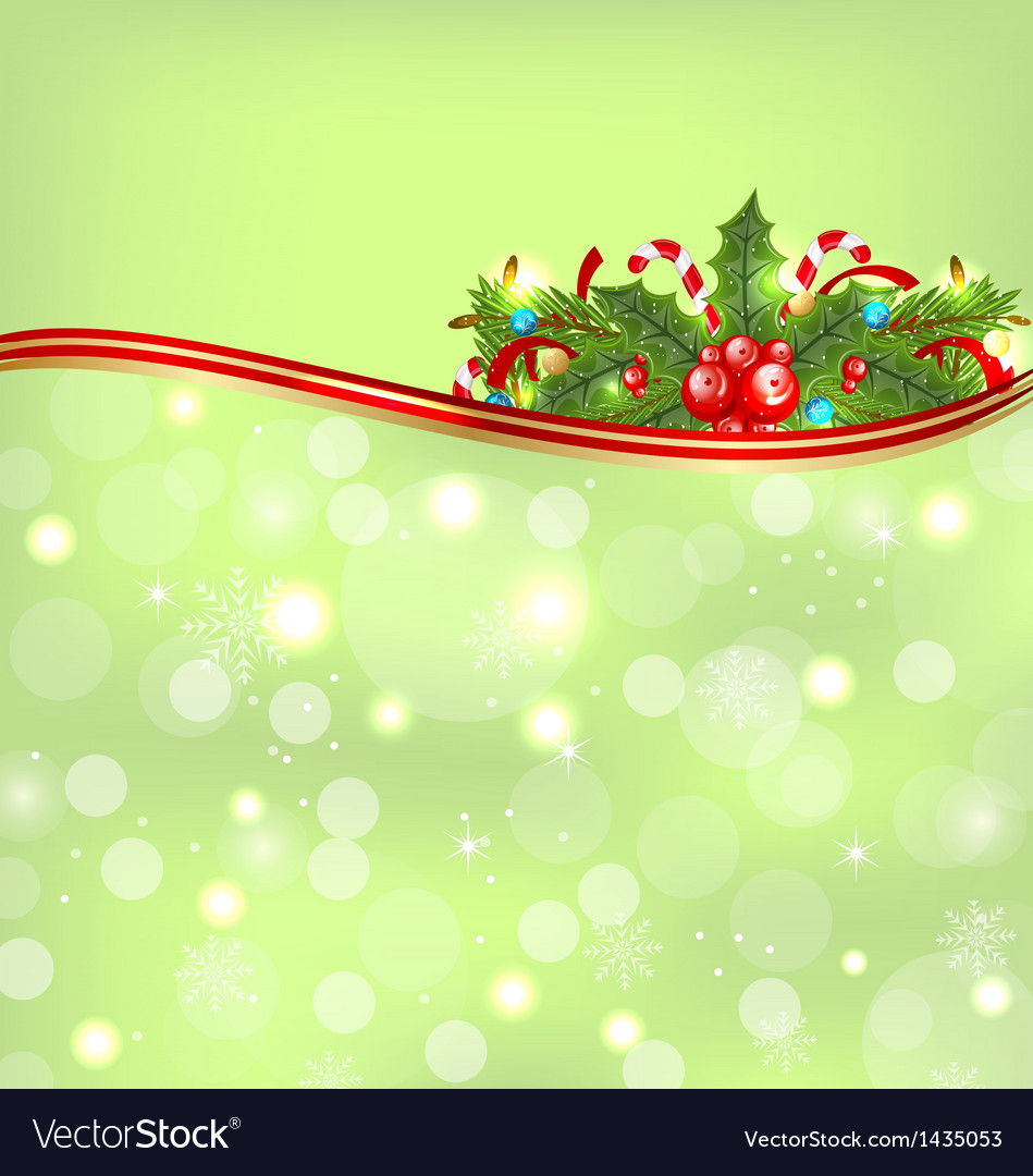 Christmas glowing background holiday decoration vector | Price: 1 Credit (USD $1)