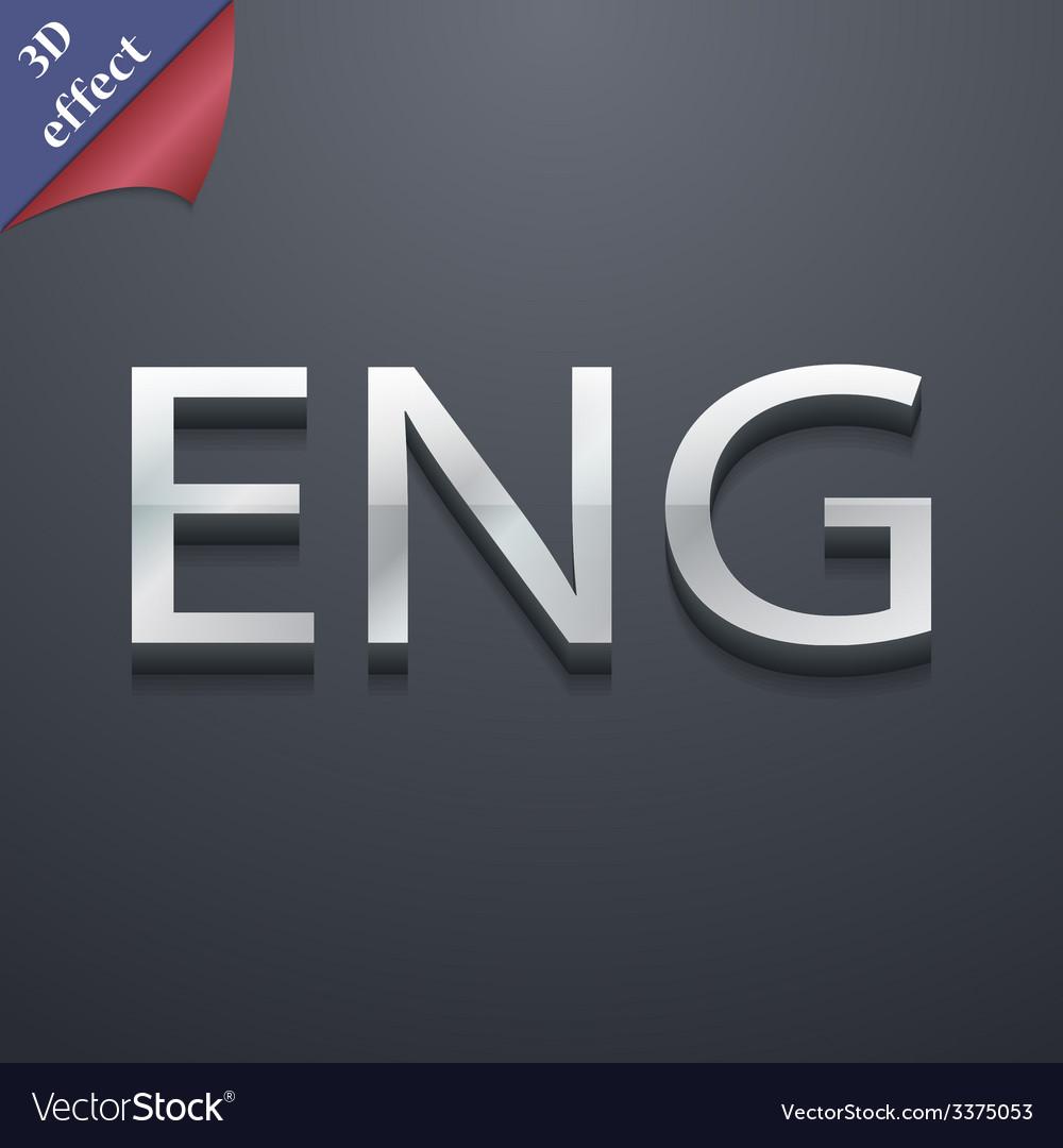 English icon symbol 3d style trendy modern design vector | Price: 1 Credit (USD $1)