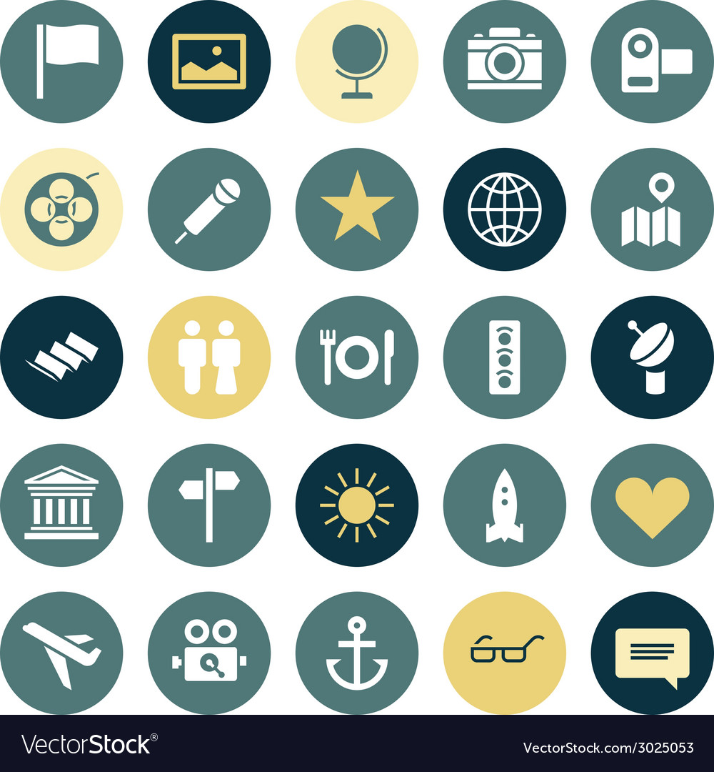 Flat design icons for travel and leisure vector | Price: 1 Credit (USD $1)