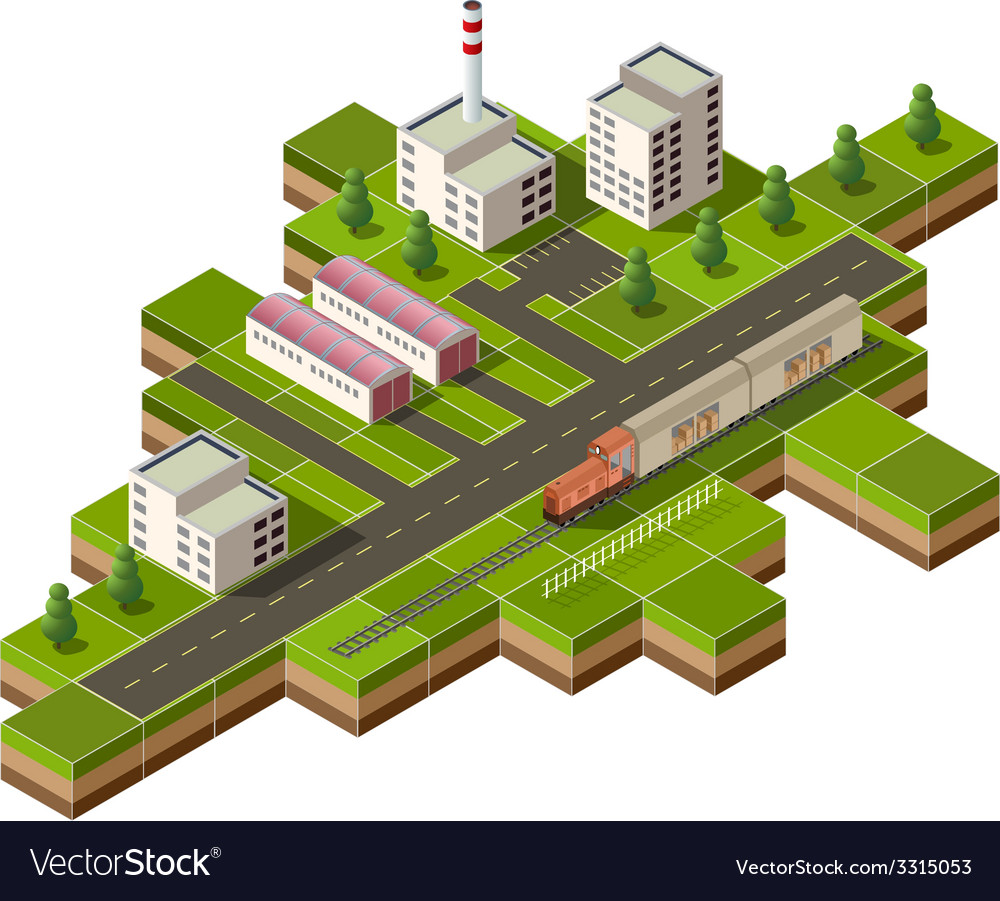 Freight train vector | Price: 1 Credit (USD $1)