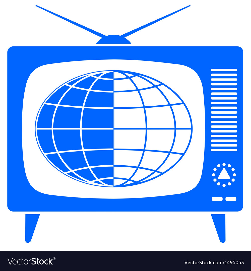 Globe in retro tv vector | Price: 1 Credit (USD $1)