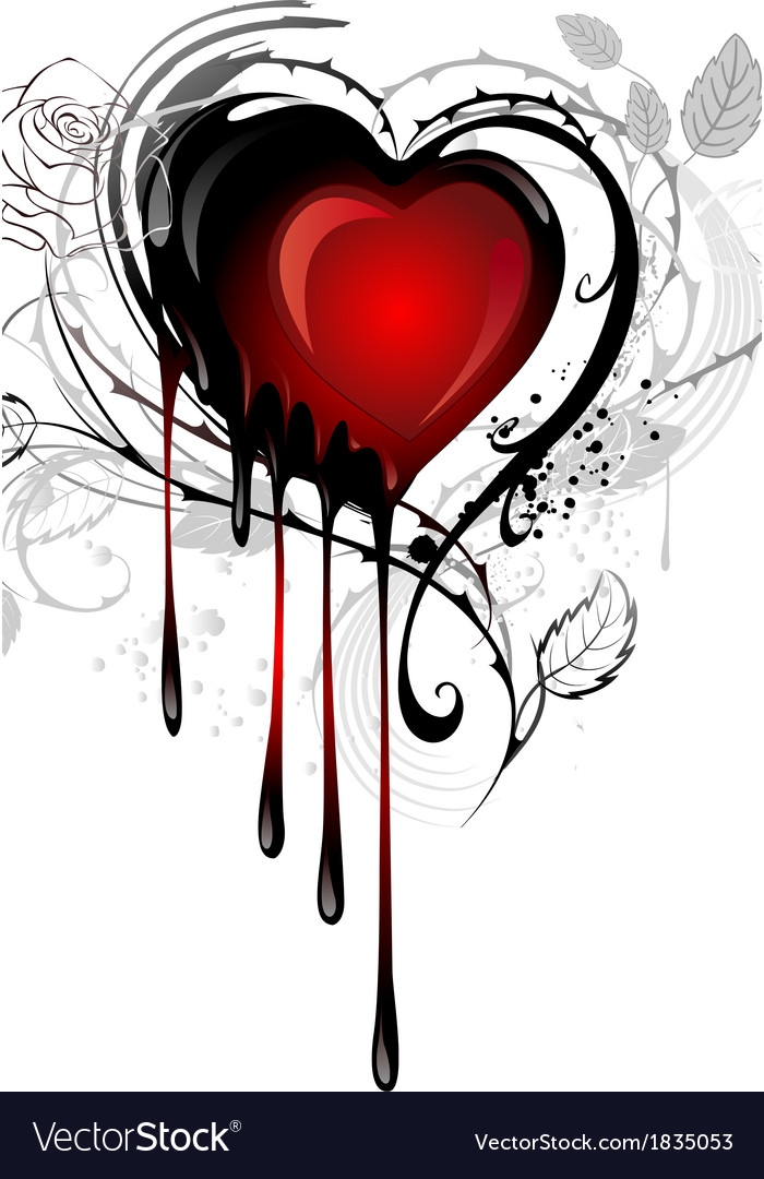 Heart drawn with paint vector | Price: 1 Credit (USD $1)