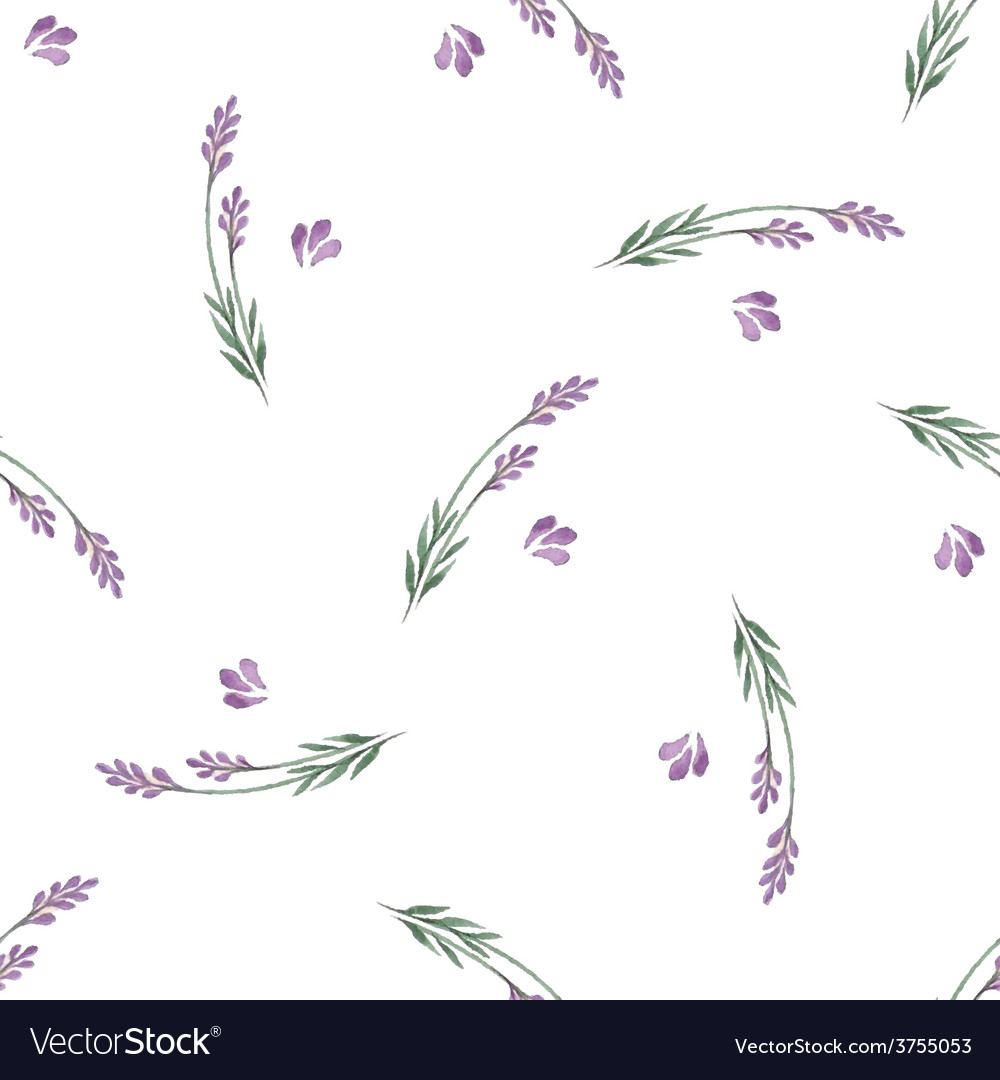 Lavender decorative seamless pattern vector