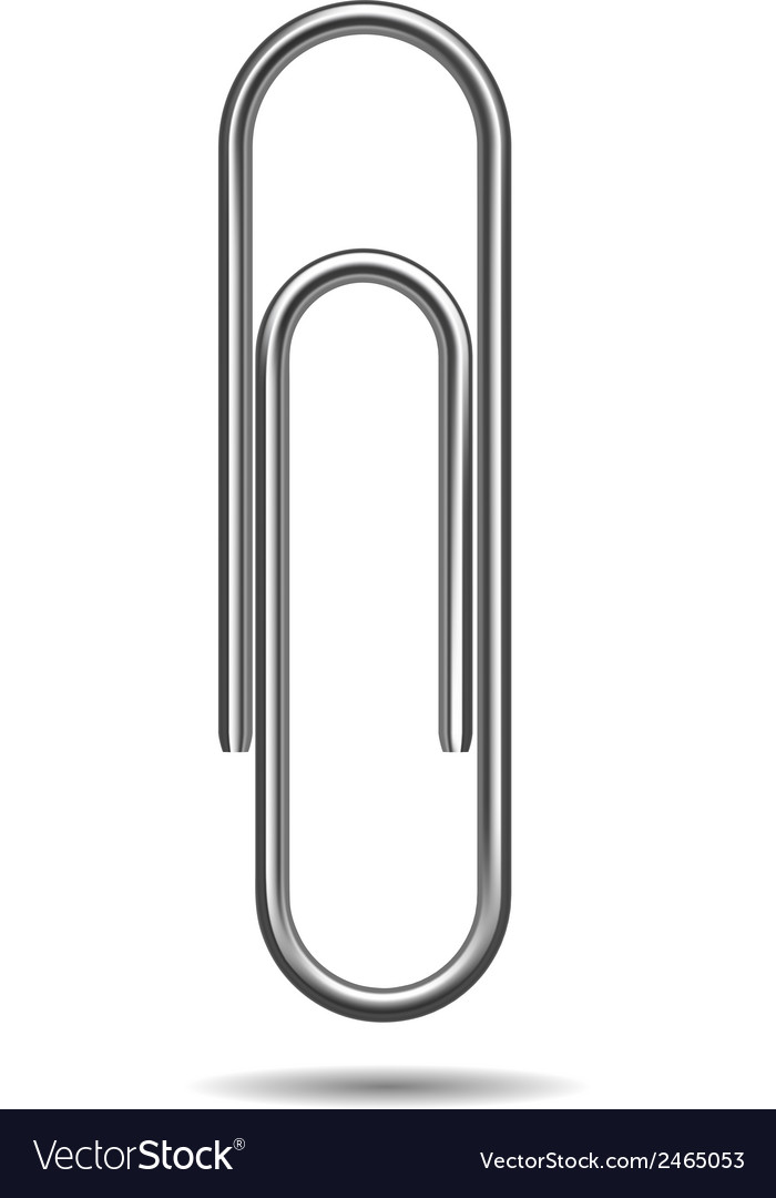 Paper clip vector | Price: 1 Credit (USD $1)