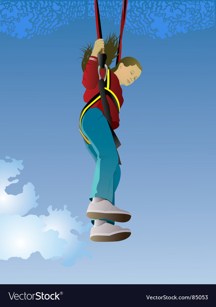 Parachute jumper vector | Price: 1 Credit (USD $1)