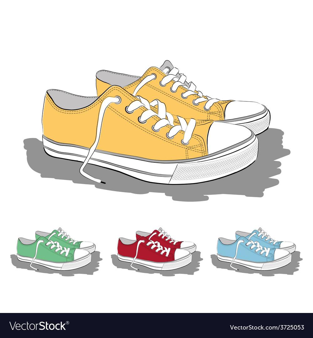 Set of low sneakers vector | Price: 1 Credit (USD $1)