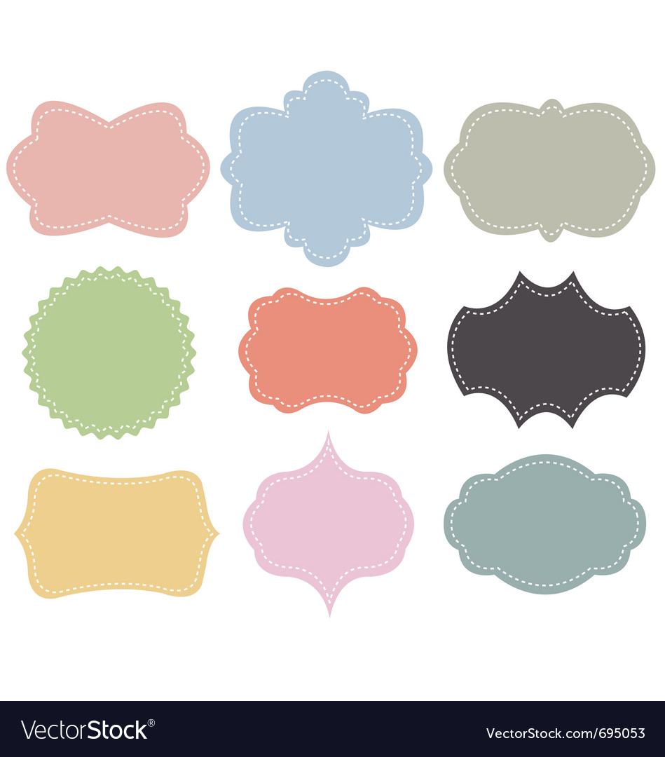 Set of vintage frames vector | Price: 1 Credit (USD $1)