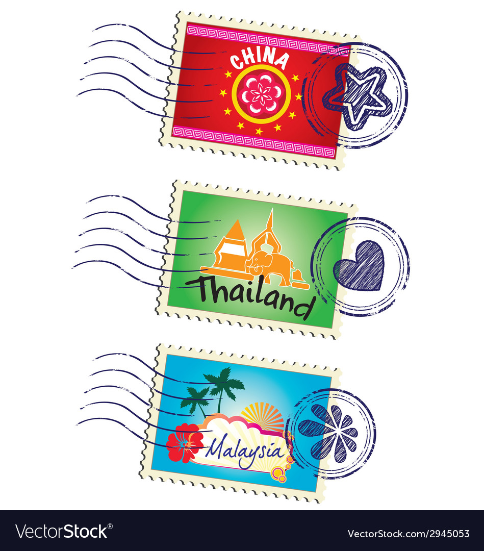 Stamp set vector | Price: 1 Credit (USD $1)