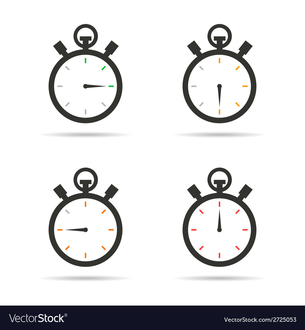 Stopwatch icons set vector | Price: 1 Credit (USD $1)