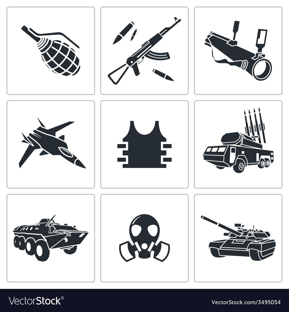 Armament icon set vector | Price: 1 Credit (USD $1)