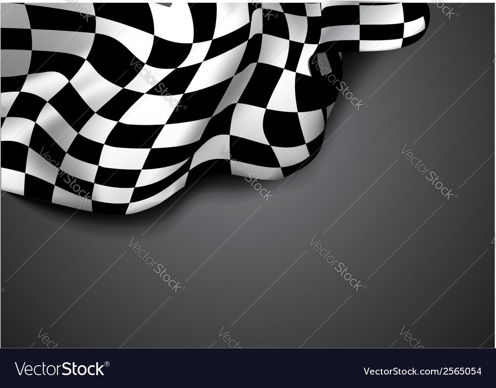 Checkered race flag vector | Price: 1 Credit (USD $1)