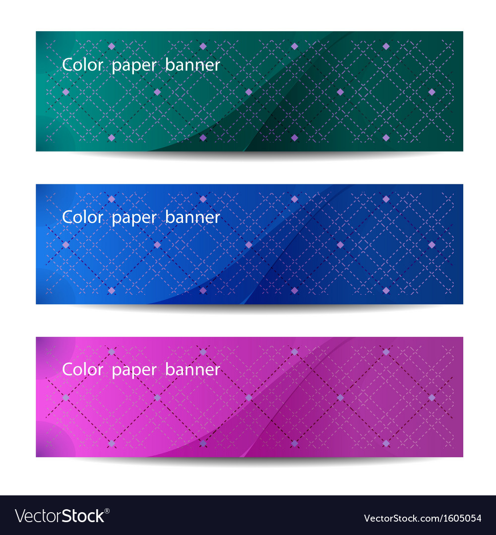 Color paper banners vector | Price: 1 Credit (USD $1)