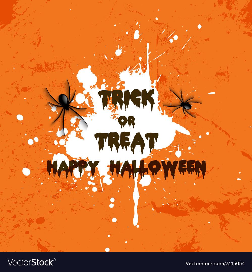 Grunge halloween spider background 2708 vector | Price: 1 Credit (USD $1)