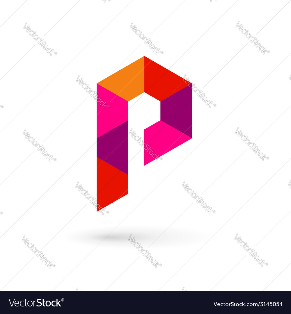 Letter p mosaic logo icon design template elements vector | Price: 1 Credit (USD $1)
