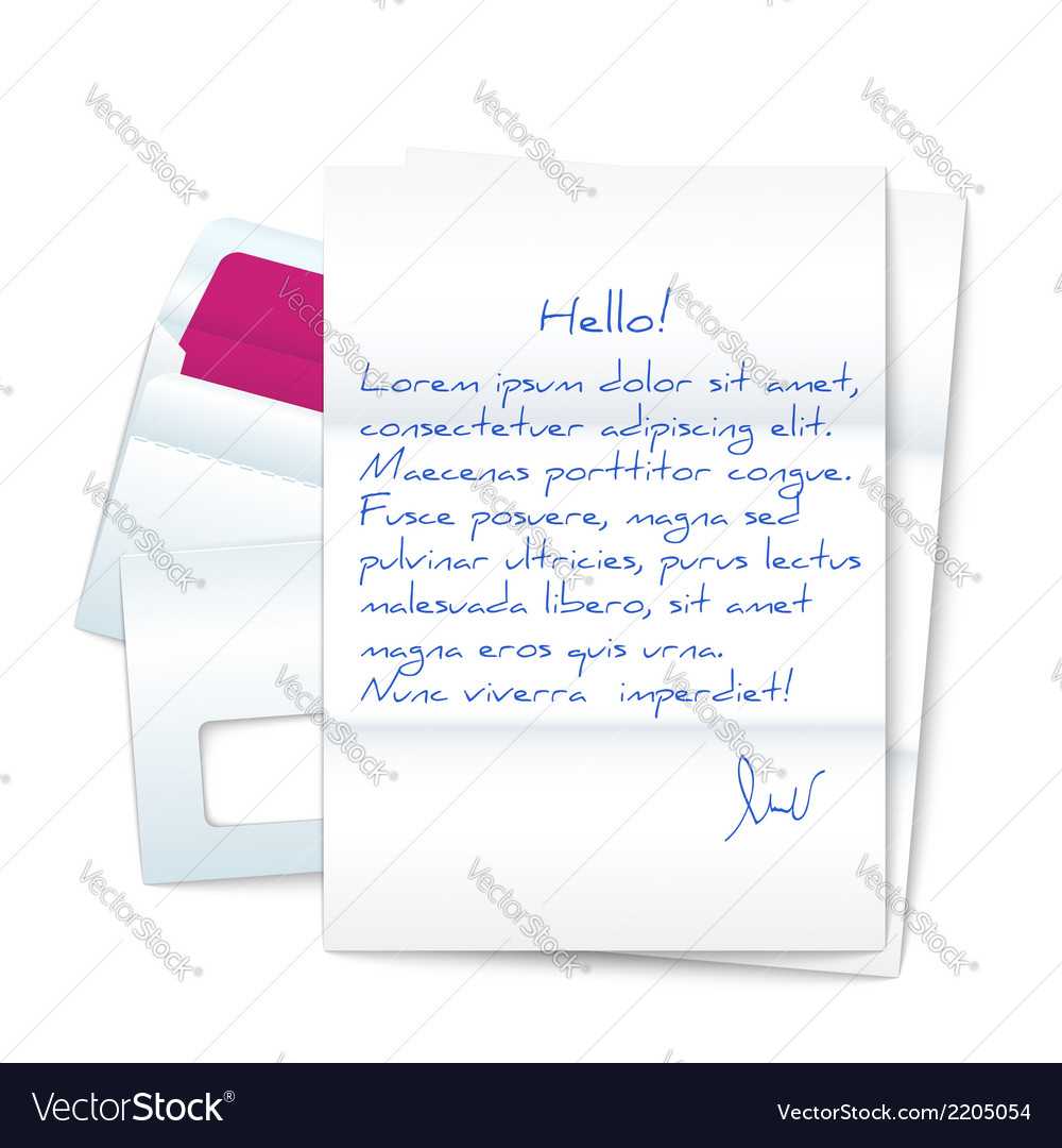 Letter with two envelopes vector | Price: 1 Credit (USD $1)