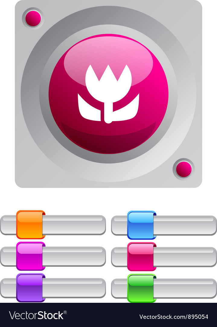 Macro color round button vector | Price: 1 Credit (USD $1)