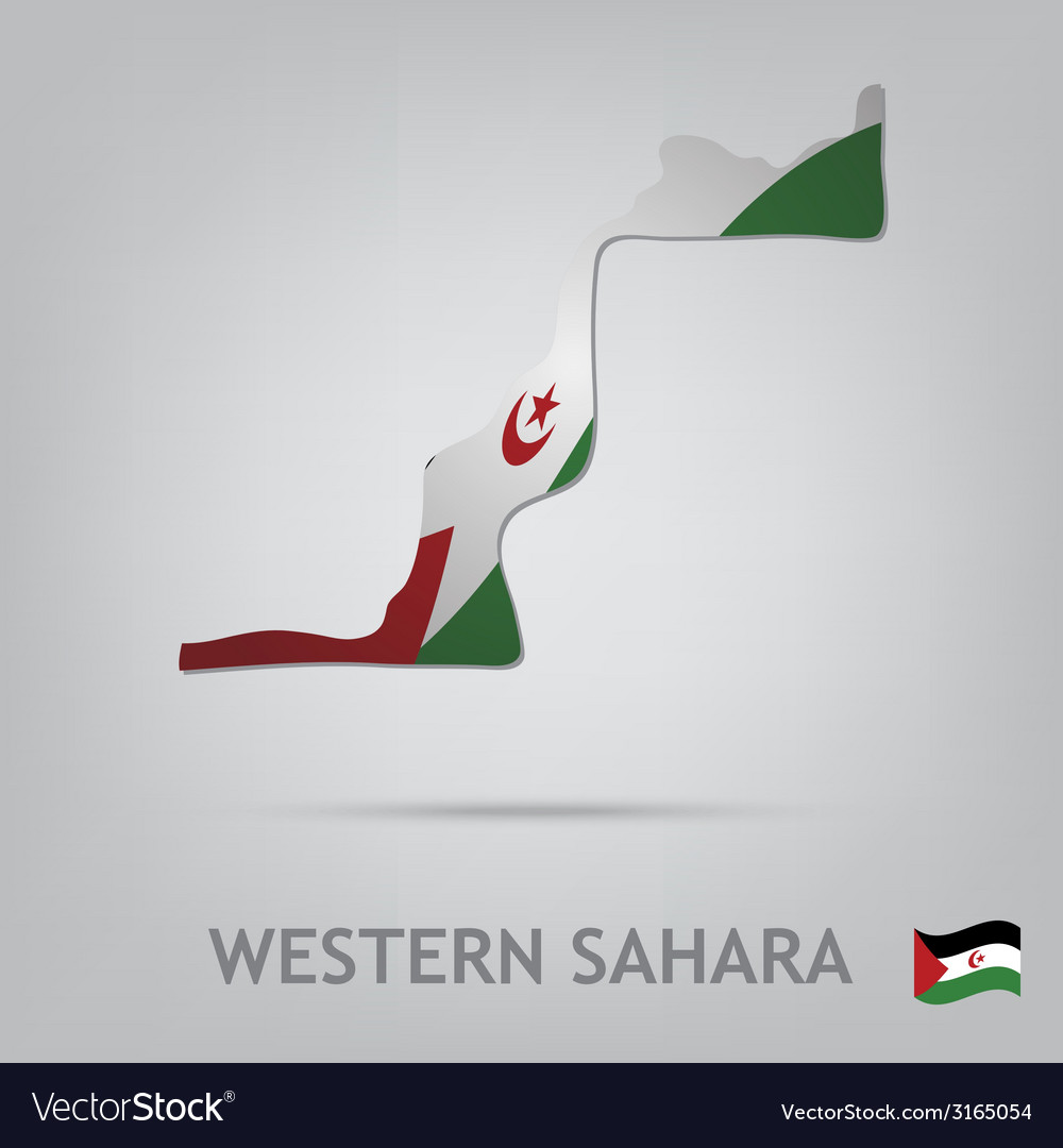 Western sahara vector | Price: 1 Credit (USD $1)