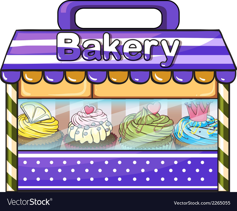 A bakery with lots of goods vector | Price: 1 Credit (USD $1)