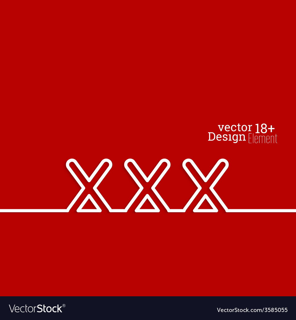 Abstract background with red xxx vector | Price: 1 Credit (USD $1)