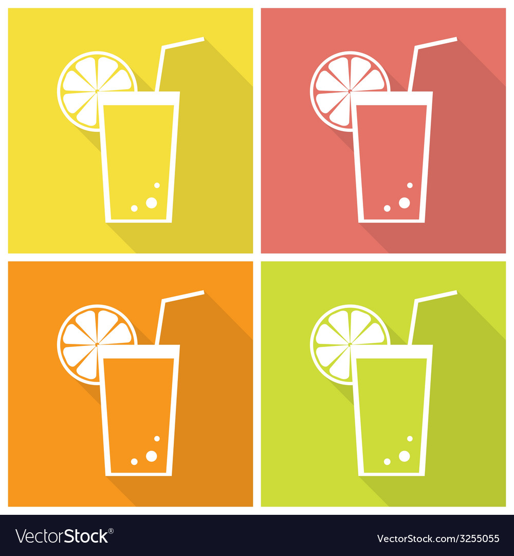 Citrus juice icons vector | Price: 1 Credit (USD $1)