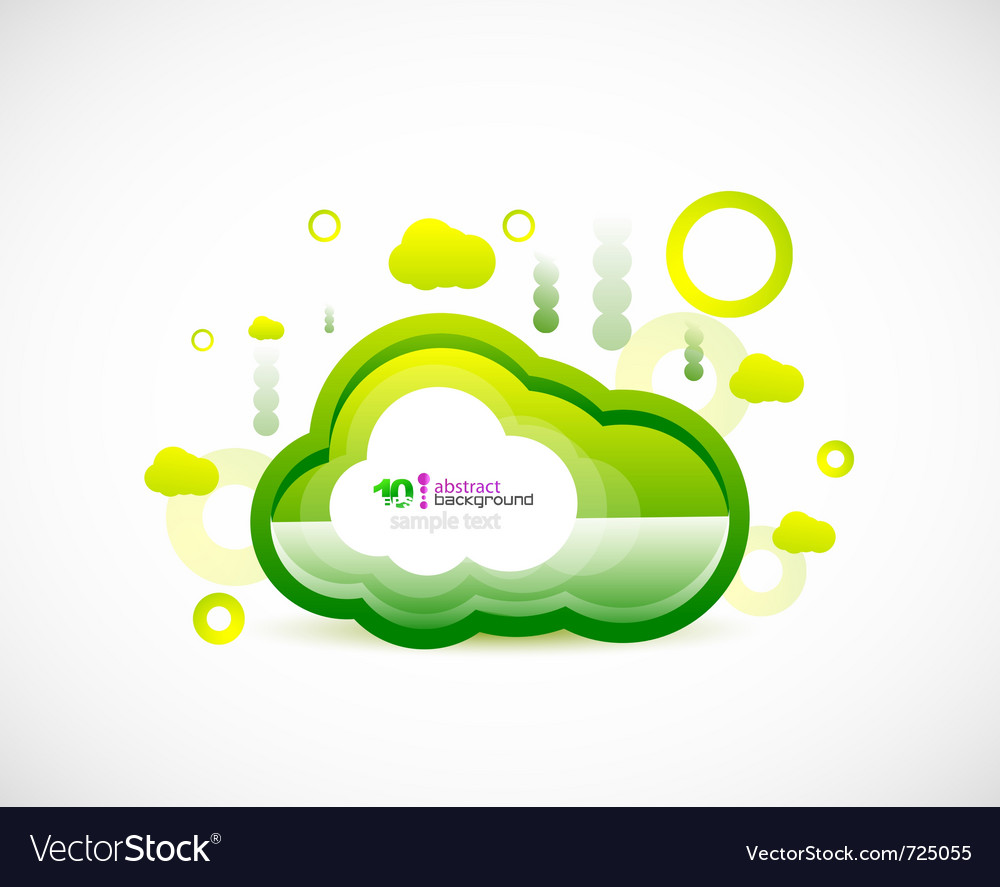 Clean cloud green space concept vector | Price: 1 Credit (USD $1)