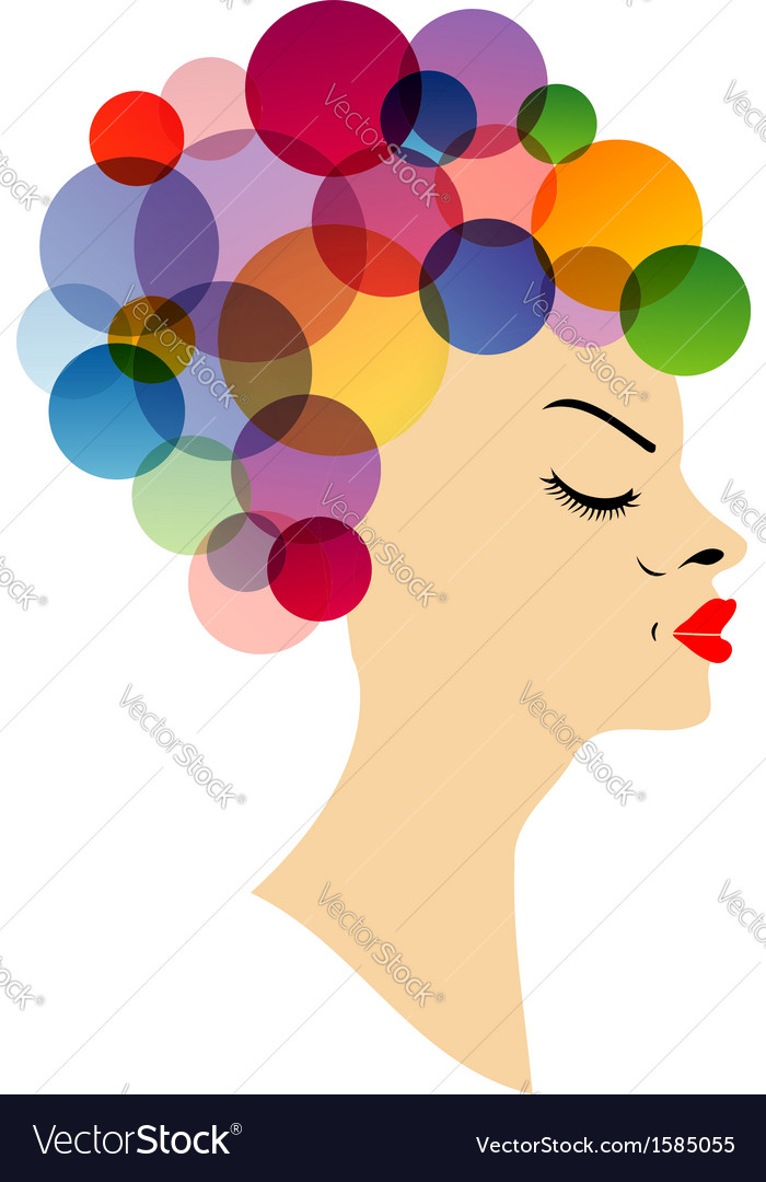 Colorful hairstyle vector | Price: 1 Credit (USD $1)