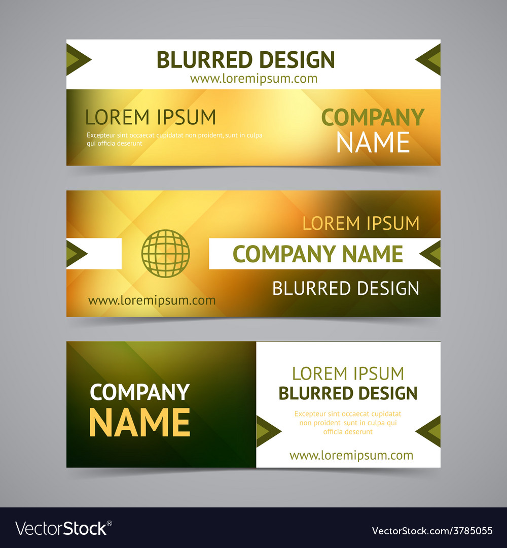 Company banners with blurred backgrounds vector | Price: 1 Credit (USD $1)