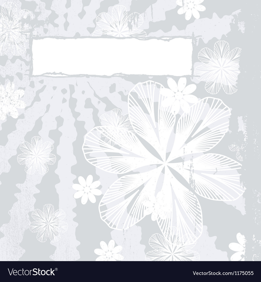 Couture floral grunge vector | Price: 1 Credit (USD $1)