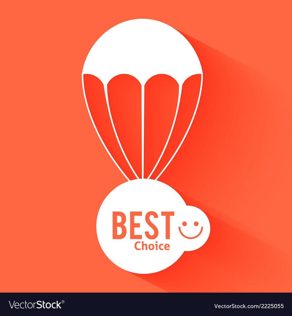 Discount parachute vector | Price: 1 Credit (USD $1)