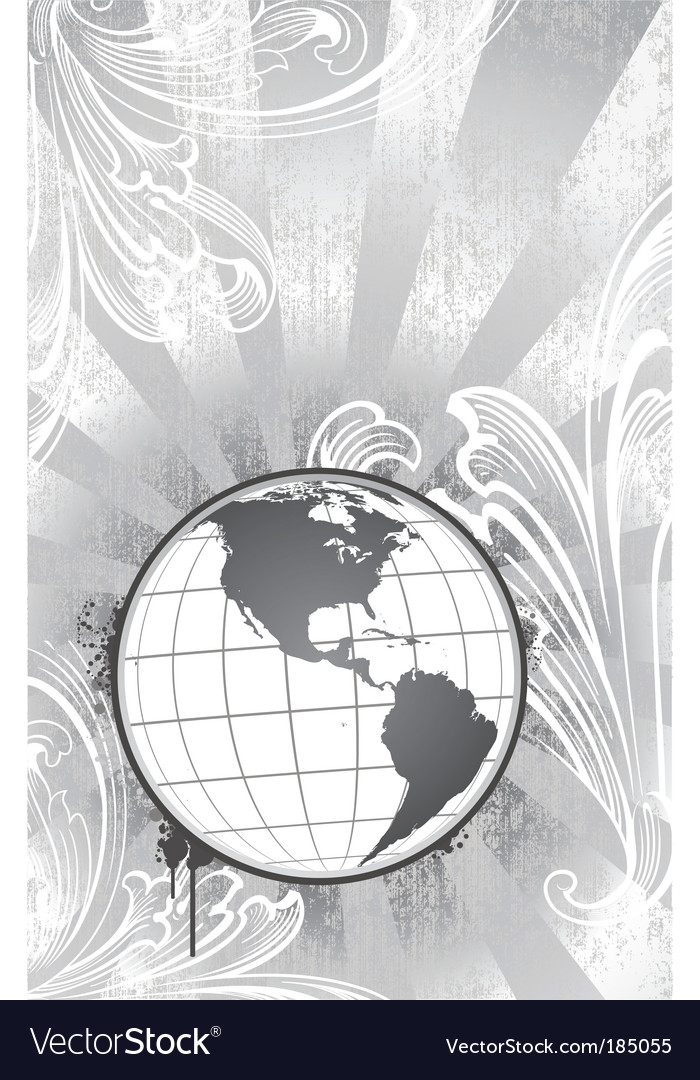Etched globe vector | Price: 1 Credit (USD $1)