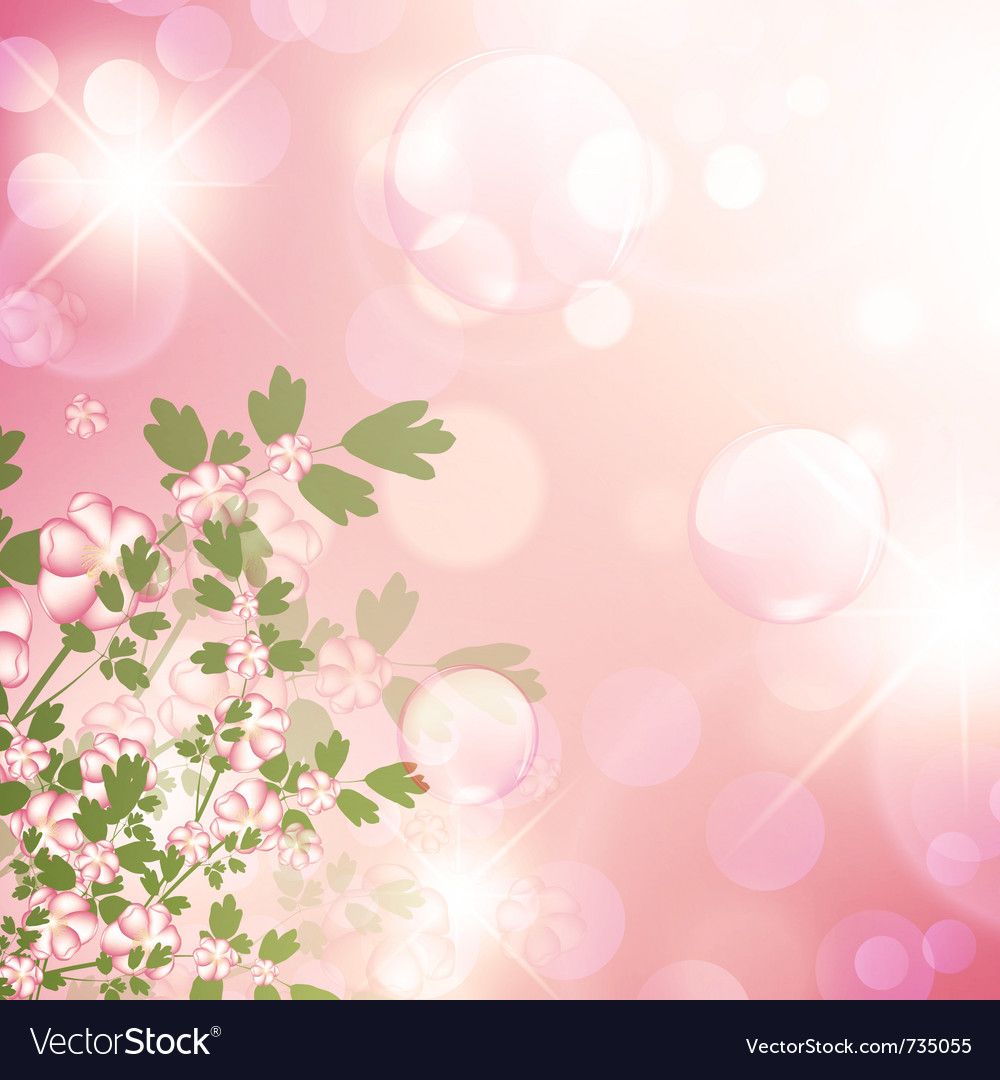 Floral bubbly background vector | Price: 1 Credit (USD $1)